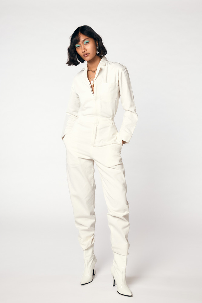 Miaou ROMY JUMPSUIT - WHITE