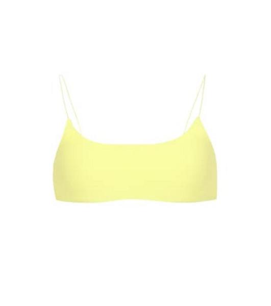Jade Swim Exclusive to Mytheresa – Perfect Match bikini top in yellow