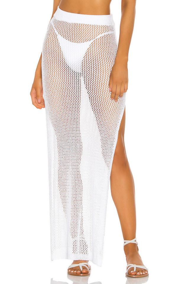 superdown Yael Knit Maxi Skirt in white