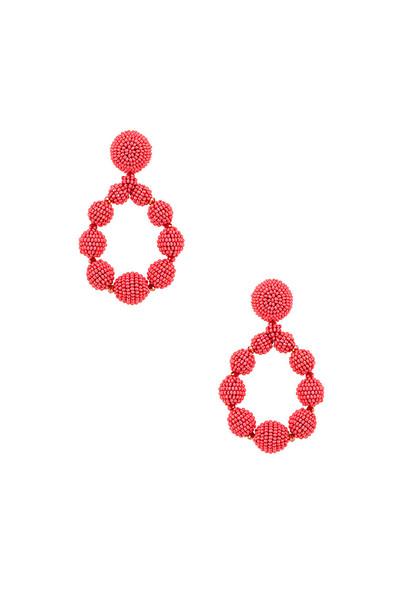 Sachin & Babi Beaded Teardrop Earrings in orange