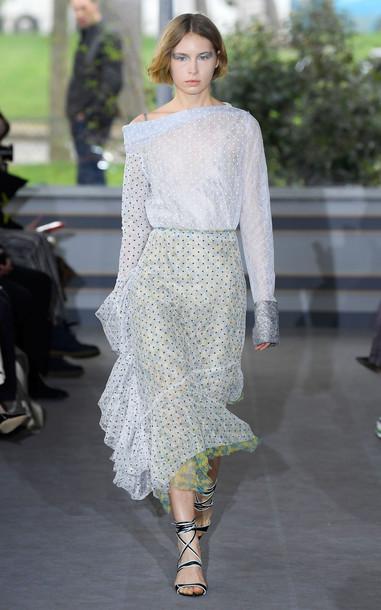 Anaïs Jourden Duo Lace Midi Skirt Size: 34 in multi
