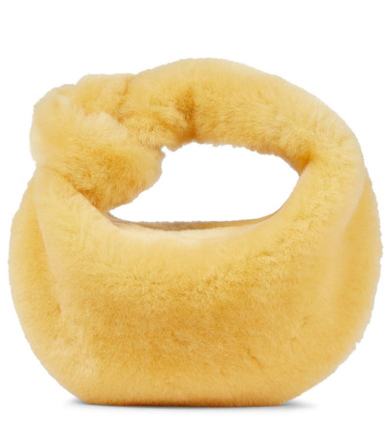 Bottega Veneta Jodie Mini shearling tote in yellow