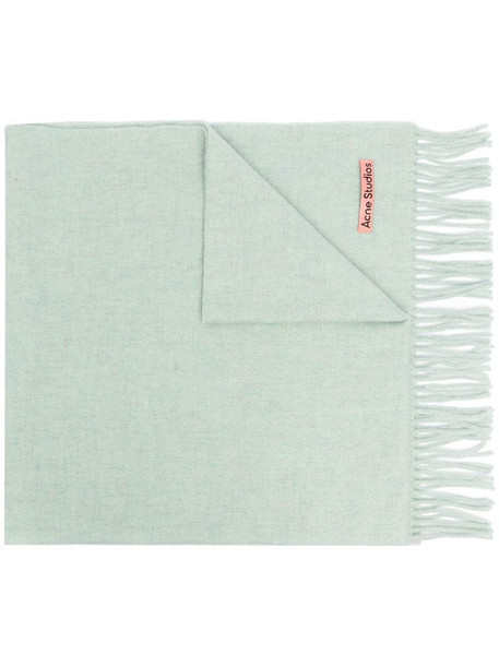 Acne Studios Canada New fringed scarf in green