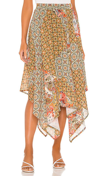 Free People Stay Awhile Maxi Skirt in Brown