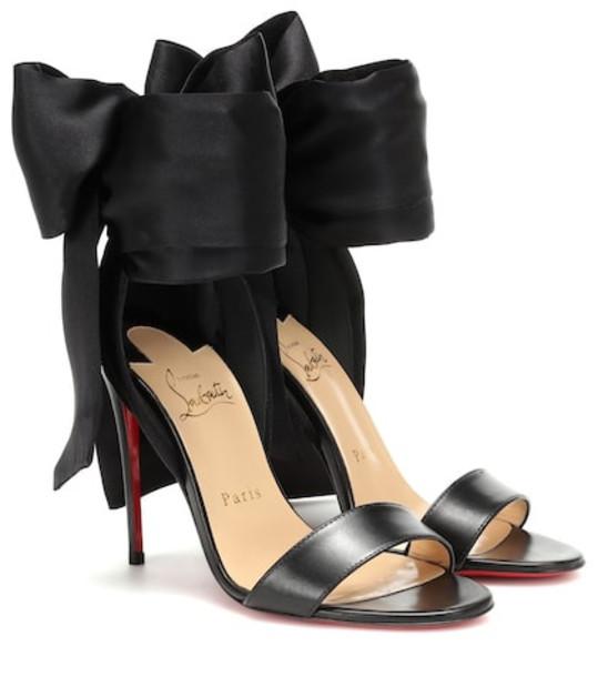 Christian Louboutin Sandale Du Desert leather and satin sandals in black