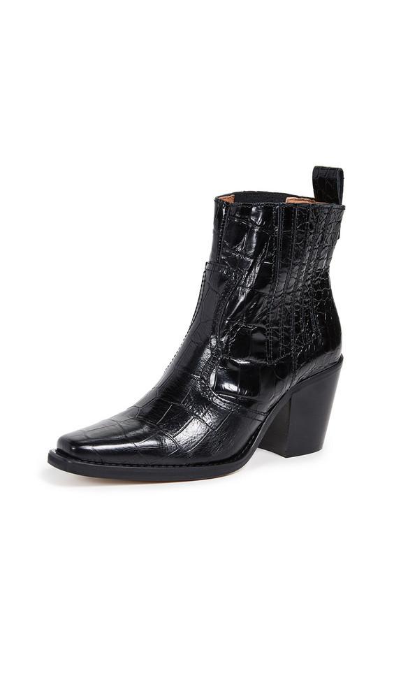 GANNI Western Boots in black