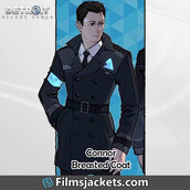 coat,video game,detroit become human,character,connor,fashion,outfit,style,menswear,mens  fashion,men's outfit