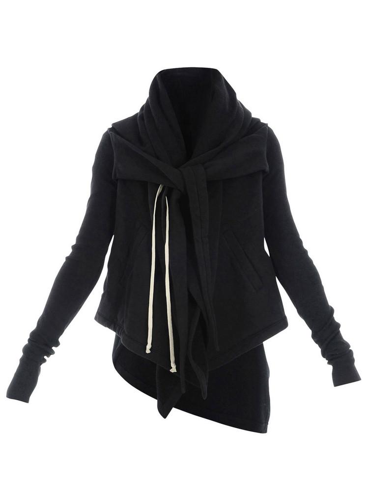 DRKSHDW Rick Owens Hooded Sweatshirt in black