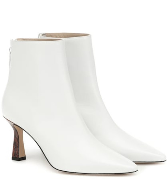 Wandler Lina leather ankle boots in white