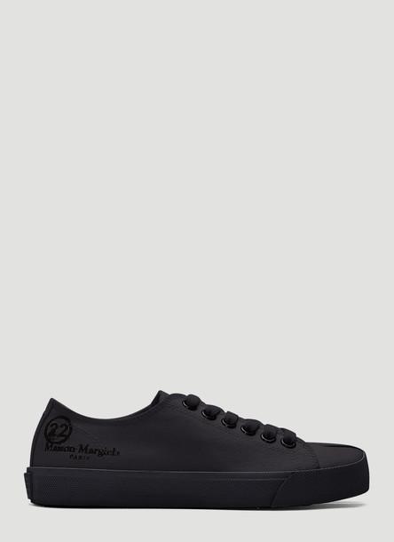 Maison Margiela Tabi Canvas Sneakers in Black size EU - 38
