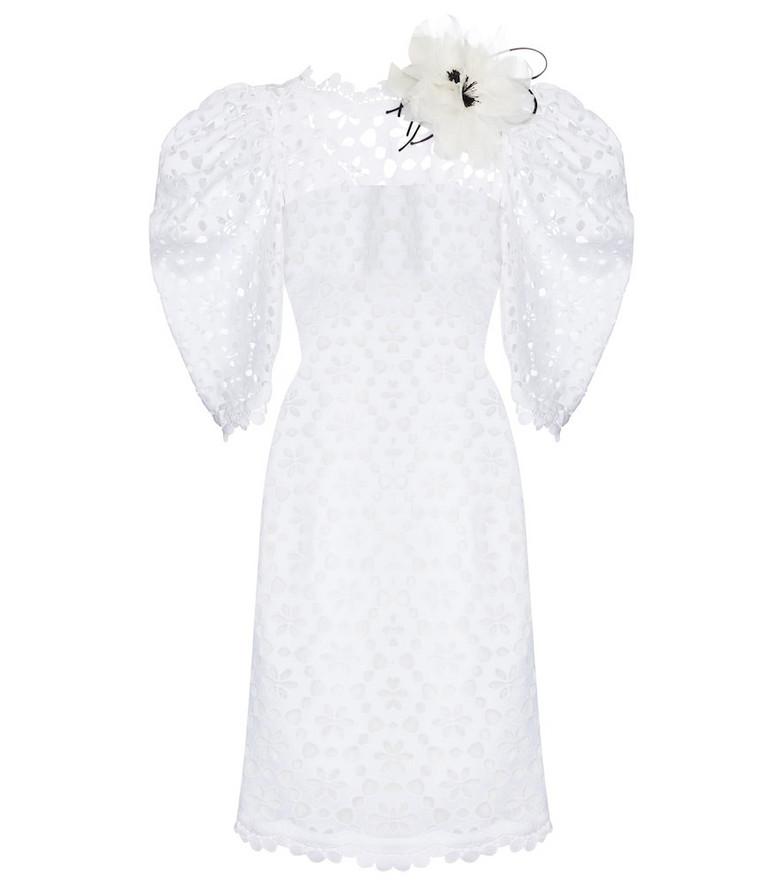 Elie Saab Macramé minidress in white