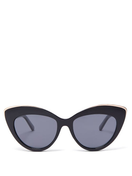 Le Specs - Beautiful Stranger Cat Eye Sunglasses - Womens - Black Grey