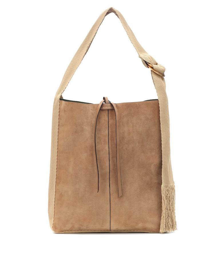 Isabel Marant Bakoo Medium suede shoulder bag in beige