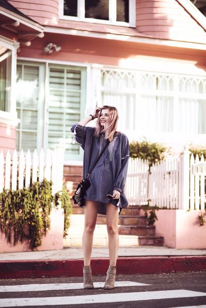 bekleidet blogger shorts shirt dress