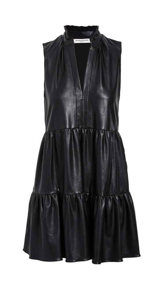 Amanda Uprichard Sleeveless Saffron Dress in black