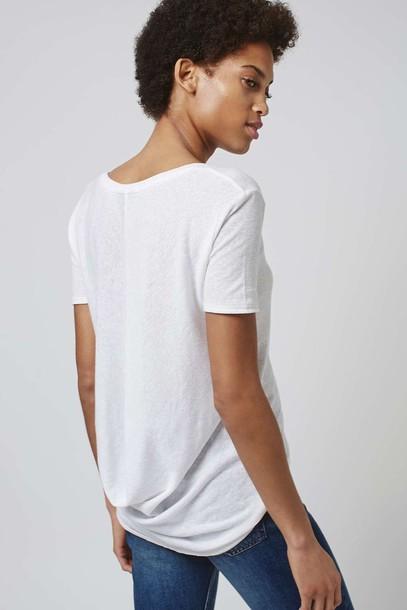 t-shirt white t-shirt topshop