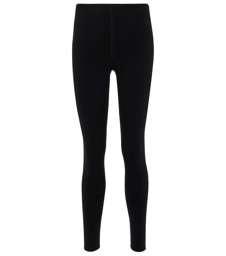 Alaïa Open-knit stretch-wool leggings in black