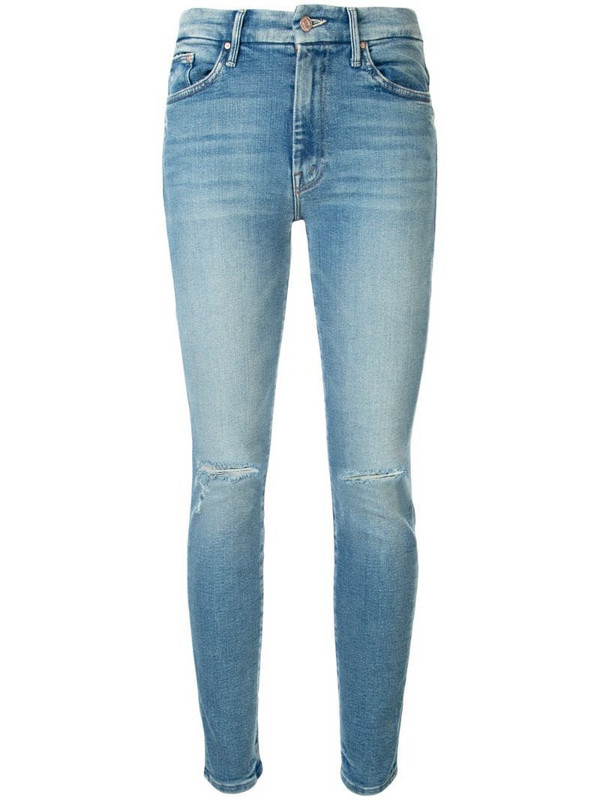 Mother The High Waisted Looker slim-fit jeans in blue