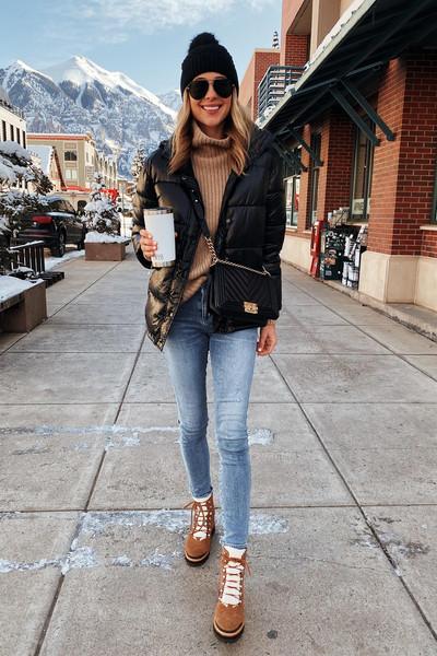 fashionjackson blogger jacket sweater jeans shoes hat bag leggings scarf