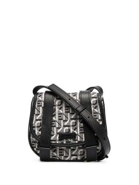 Kenzo mini Courier jacquard crossbody bag in grey