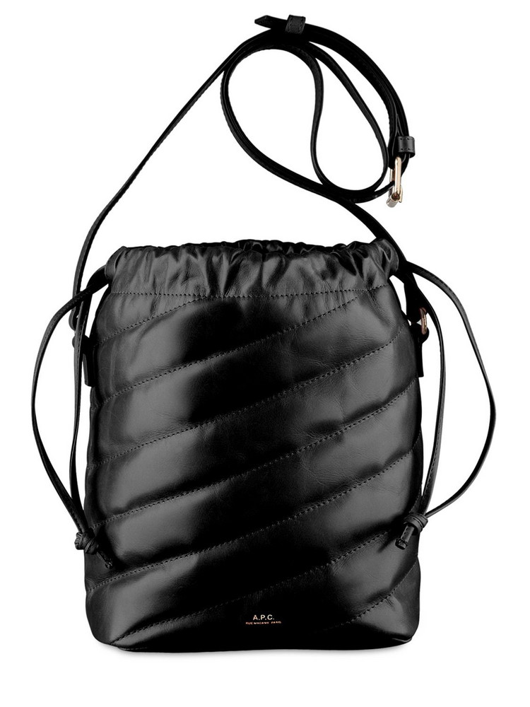 A.P.C. Meryl Seau Leather Shoulder Bag in black