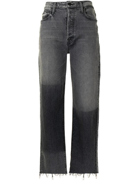 Mother The Rambler mid-rise flared jeans in black