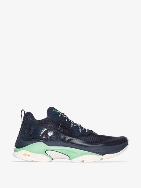 BRAND BLACK Navy blue Kite Racer sneakers