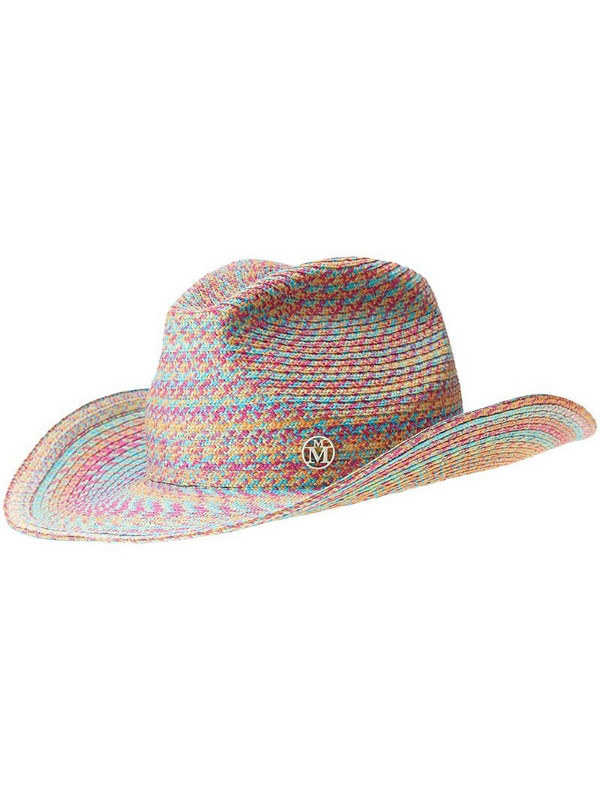 Maison Michel Austin woven cowboy hat in blue