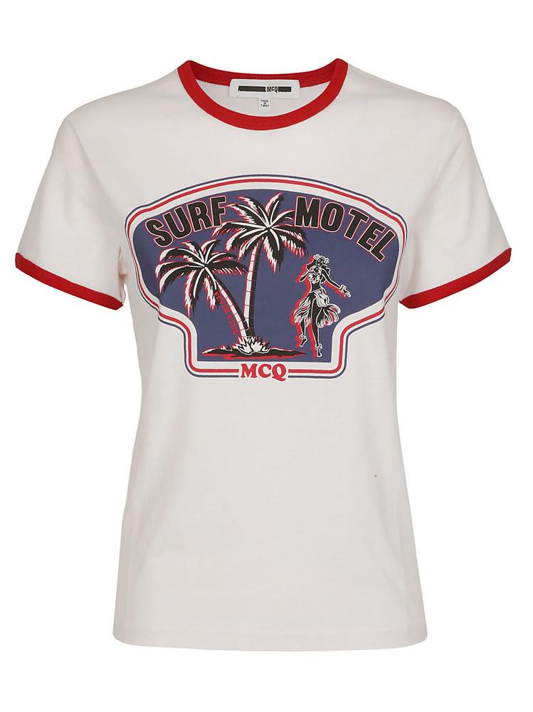 Mcq Alexander Mcqueen Surf Motel T-shirt in white