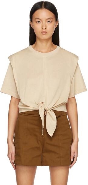 Isabel Marant Beige Zelikia T-Shirt
