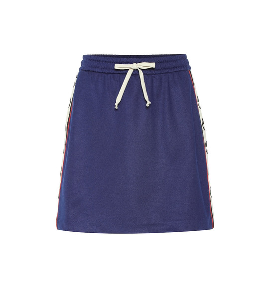 Gucci Logo-taped skirt in blue
