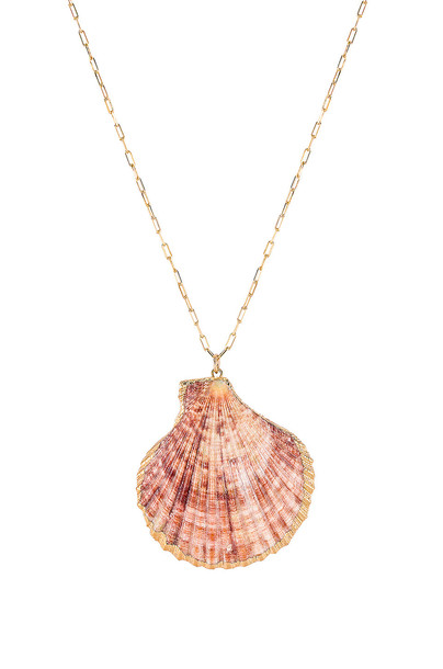 joolz by Martha Calvo Offshore Shell Necklace in gold / metallic