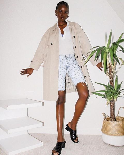 coat shoes shorts sweater