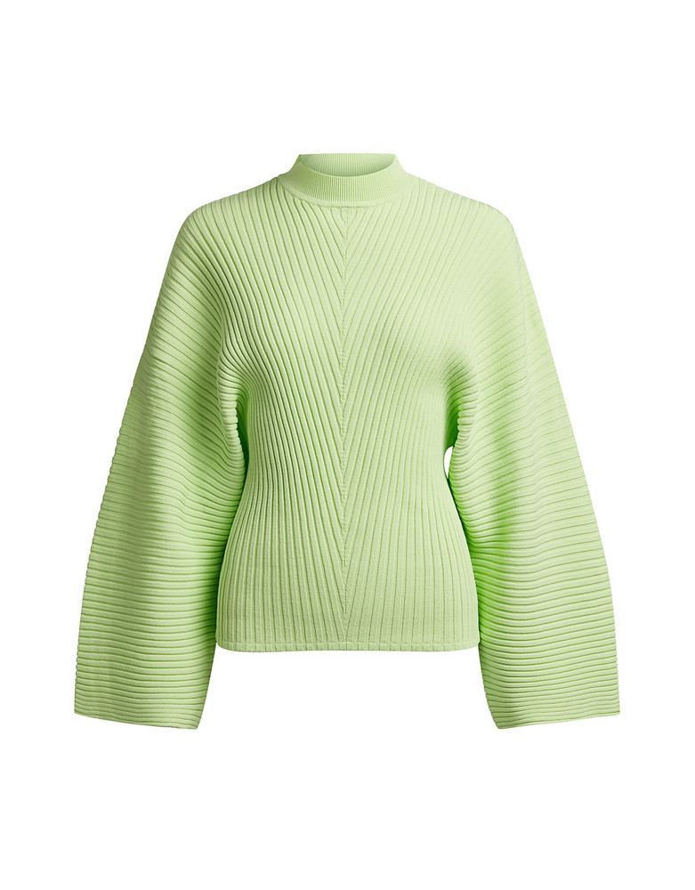 Solace London Rayniel Ribbed-knit Sweater Light Green