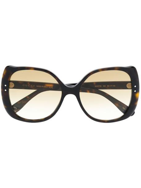 Gucci Eyewear oversized sunglasses in brown