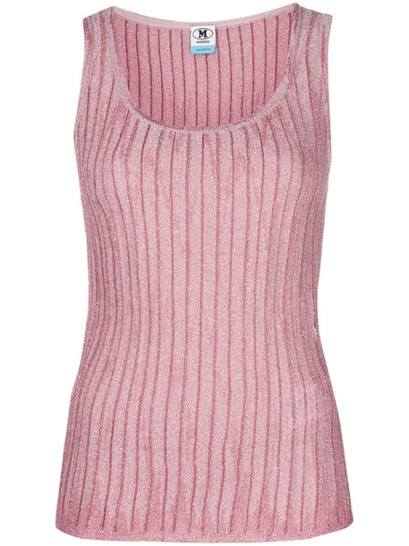 M Missoni ribbed knit tank top in pink
