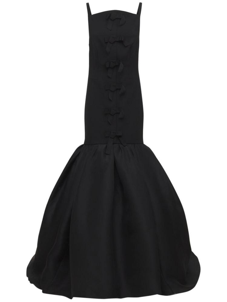 CAROLINA HERRERA Stretch Fluid Crepe Gown in black