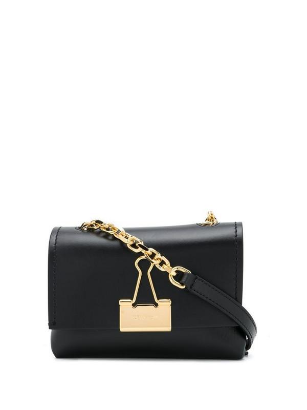 Off-White medium Binder Clip shoulder bag in black