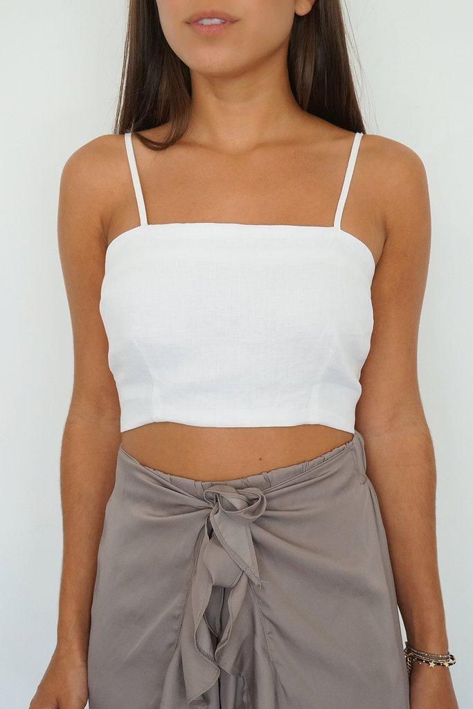 Linen Cami Crop Top