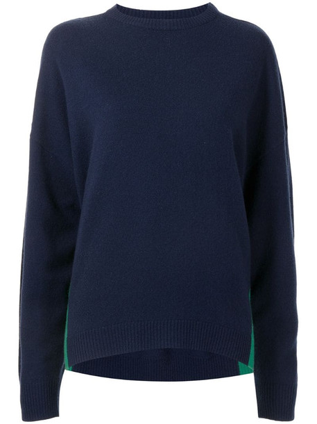 Cynthia Rowley two-tone cashmere-blend jumper in blue
