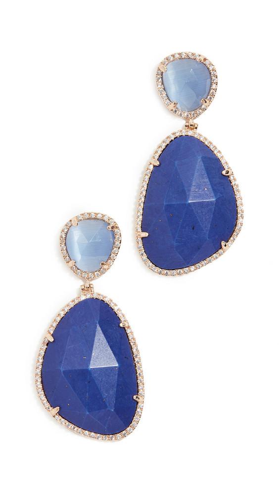 Stella + Ruby Stella + Ruby Blue Evening Earrings