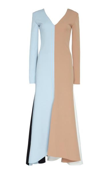 A.W.A.K.E. A.W.A.K.E. Contrast Panel Midi Dress in multi