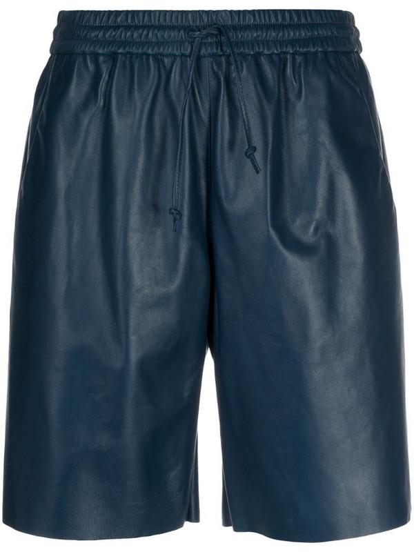 Drome drawstring high-rise shorts in blue