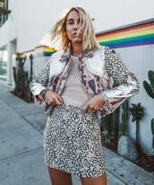 skirt,mini skirt,top,jacket,printed jacket,print