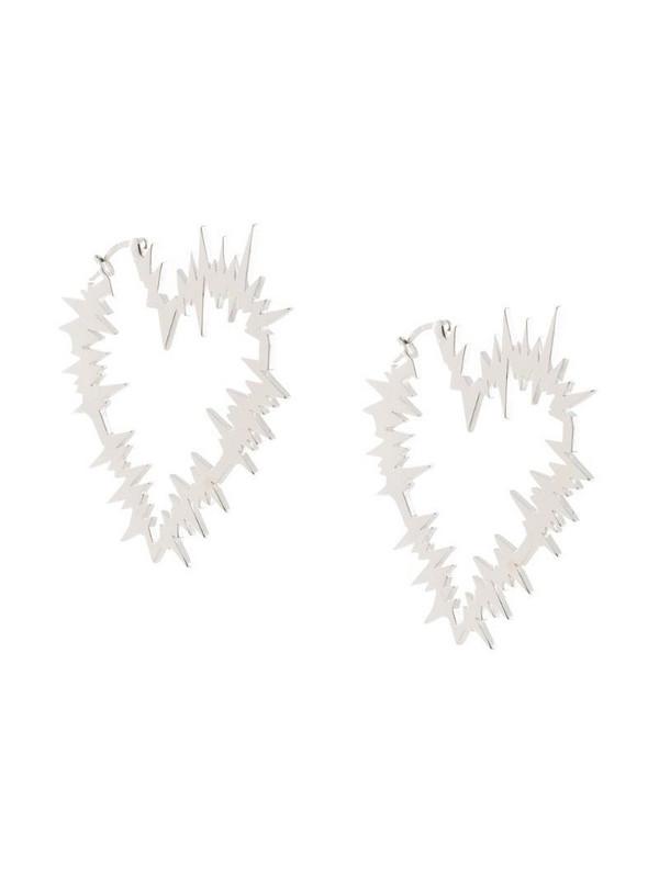 Karen Walker Electric Heart hoop earrings in silver