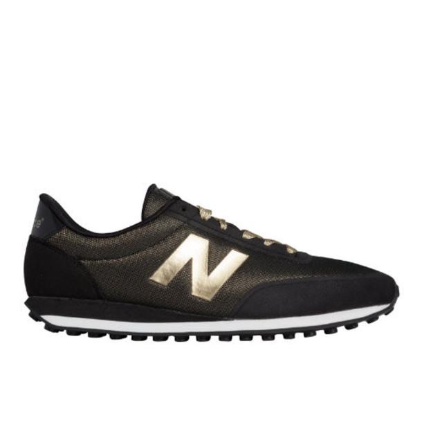New Balance 410 Metallic Women's Running Classics Shoes - Black, Gold (WL410PA)
