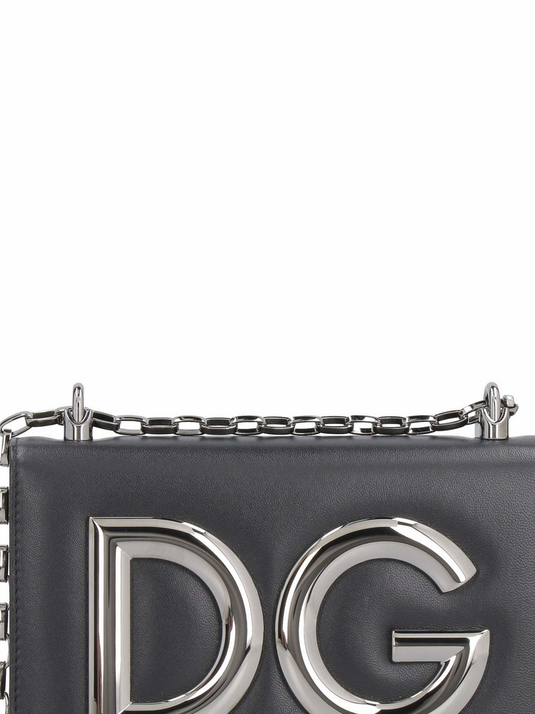 Dolce & Gabbana Dg Girls Leather Shoulder Bag in black