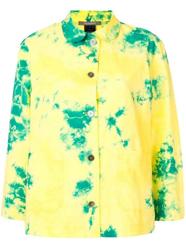 Suzusan tie-dye shirt in yellow
