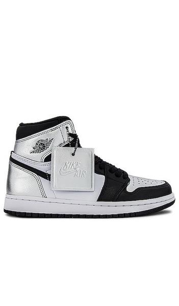 Jordan Air Jordan 1 High Sneaker in black / metallic / silver / white