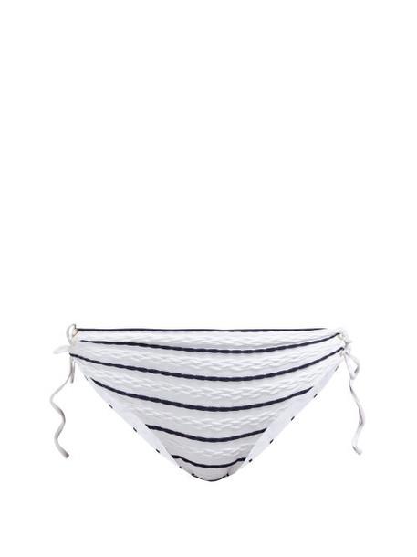 Heidi Klein - Dubrovnik Striped Bikini Briefs - Womens - Navy Stripe